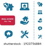 real estate icons. professional ... | Shutterstock .eps vector #1923756884
