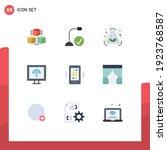 set of 9 modern ui icons...