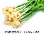 A Bunch Of Ginger Root With Th...