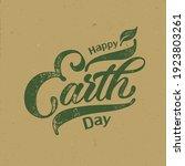 happy earth day handwritten...   Shutterstock .eps vector #1923803261