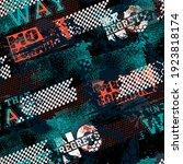 seamless abstract sport pattern ... | Shutterstock .eps vector #1923818174