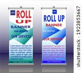 roll up banner vector template... | Shutterstock .eps vector #1923853667