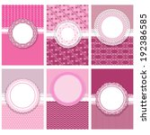 set of vertical invitation... | Shutterstock .eps vector #192386585