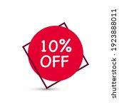 10  off discount. discount... | Shutterstock .eps vector #1923888011