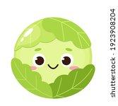 cartoon green cabbage emoji....   Shutterstock .eps vector #1923908204