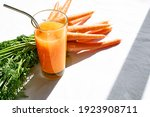 Glass Of Fresh Squeezed Carrot...