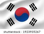 south korea waving flag vector... | Shutterstock .eps vector #1923935267