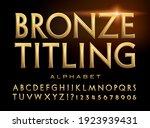 bronze titling  a classic roman ... | Shutterstock .eps vector #1923939431