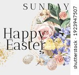 happy easter  vector... | Shutterstock .eps vector #1923947507