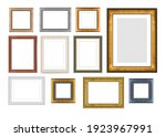 set of vintage wooden frames... | Shutterstock . vector #1923967991