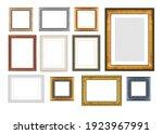 Set of vintage wooden frames...