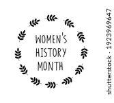 women's history month...   Shutterstock .eps vector #1923969647