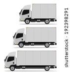 truck cargo set three models | Shutterstock .eps vector #192398291