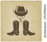 Cowboy Old Background   Vector...