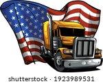 classic american truck. vector... | Shutterstock .eps vector #1923989531