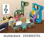 illustration of stickman kids... | Shutterstock .eps vector #1924002701