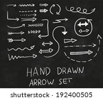 vector hand drawn doodle arrows ... | Shutterstock .eps vector #192400505