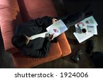 businessman works with colored... | Shutterstock . vector #1924006