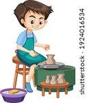 cartoon character boy making... | Shutterstock .eps vector #1924016534