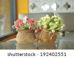 colorful artificial flowers... | Shutterstock . vector #192402551