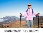 Woman Hiking On Beautiful...