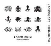 Vector  Octopus Logo Design...