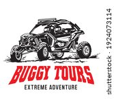 buggy and utv racing adventure... | Shutterstock .eps vector #1924073114