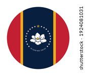 round icon with mississippi... | Shutterstock .eps vector #1924081031