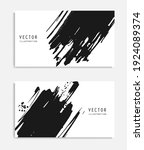 abstract ink brush banners set... | Shutterstock .eps vector #1924089374