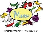 fresh ingredients menu sign
