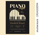 Piano Night Flyer Poster...