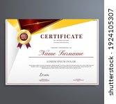 modern and luxury certificate... | Shutterstock .eps vector #1924105307