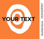 vector round shape on orange.... | Shutterstock .eps vector #1924109507
