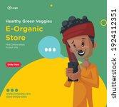 banner design of healthy green...   Shutterstock .eps vector #1924112351