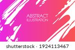 color gradient ink brush stroke ... | Shutterstock .eps vector #1924113467