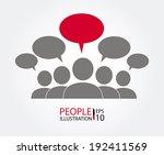 teamwork design over gray... | Shutterstock .eps vector #192411569