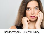 portrait of attractive woman... | Shutterstock . vector #192413327