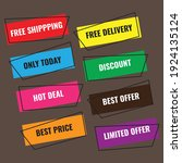 advertising labels. consists of ... | Shutterstock .eps vector #1924135124