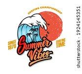 summer vibes. emblem template...   Shutterstock .eps vector #1924145351