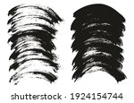 round brush thick curved... | Shutterstock .eps vector #1924154744
