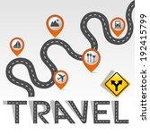 """travel"" road   street alphabet ... | Shutterstock .eps vector #192415799"