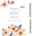 watercolor flowers  wedding... | Shutterstock . vector #1924159421