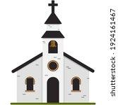 Wedding Church Vector. Chapel...