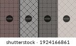 abstract geometric patterns set ... | Shutterstock .eps vector #1924166861