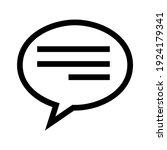 speech bubble icon or logo...