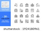 line icons about buildings....   Shutterstock .eps vector #1924180961
