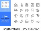 line icons about clean and... | Shutterstock .eps vector #1924180964