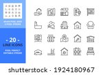line icons about real estate.... | Shutterstock .eps vector #1924180967