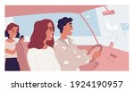 happy family driving to grocery ... | Shutterstock .eps vector #1924190957