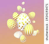 easter festive composition with ... | Shutterstock .eps vector #1924193471